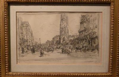 Luigi Loir, la Rue de Rivoli et la Tour Saint-Jacques, dessin