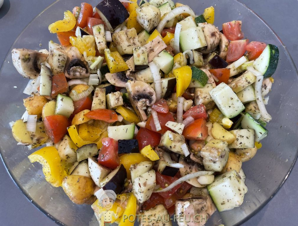 Légumes au four à la fêta