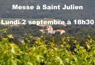 MESSE À SAINT JULIEN LUNDI 2 SEPTEMBRE