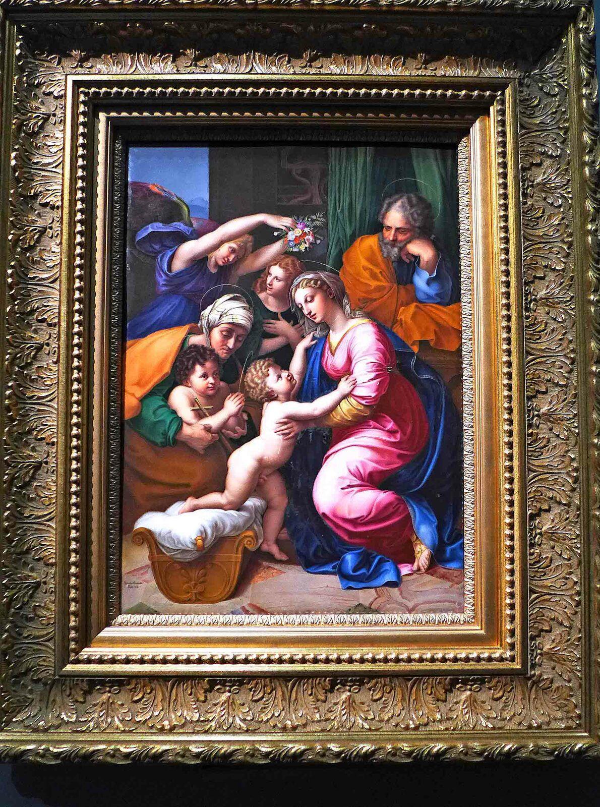 Marie Victoire JAQUOTOT, Corinne au Cap Misène (d'après François Gérard), 1825 / La Sainte Famille (d'après Raphaël), 1822, peinture sur porcelaine. France, manufacture de Sèvres.