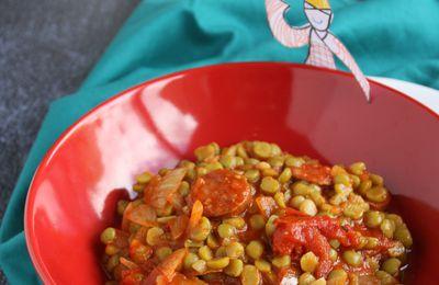Le plat flexi-gourmand de l'hiver : mijoté de pois cassés au chorizo