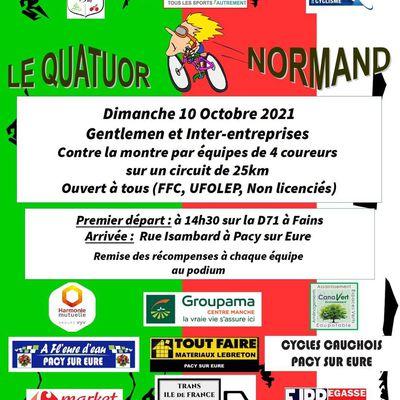 Le quatuor Normand le dimanche 10 octobre 2021
