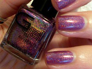 """Dark Purple"" 3D Holo Glitter Gal"