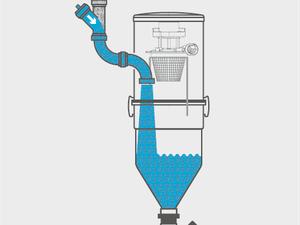 aspirateur centrale eau et poussiere egout