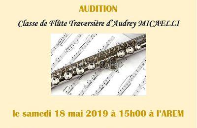 Audition de flûte traversière : samedi 18 mai
