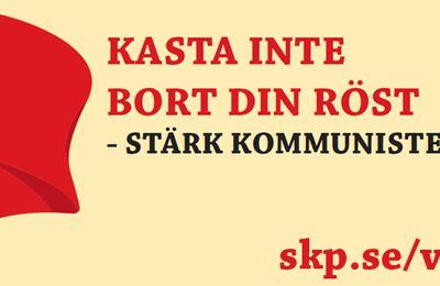 Élections législatives suédoises 2018 : Ne gâchez pas votre vote - Renforcez le Parti communiste !