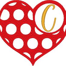 ABC cœur à pois: la lettre C
