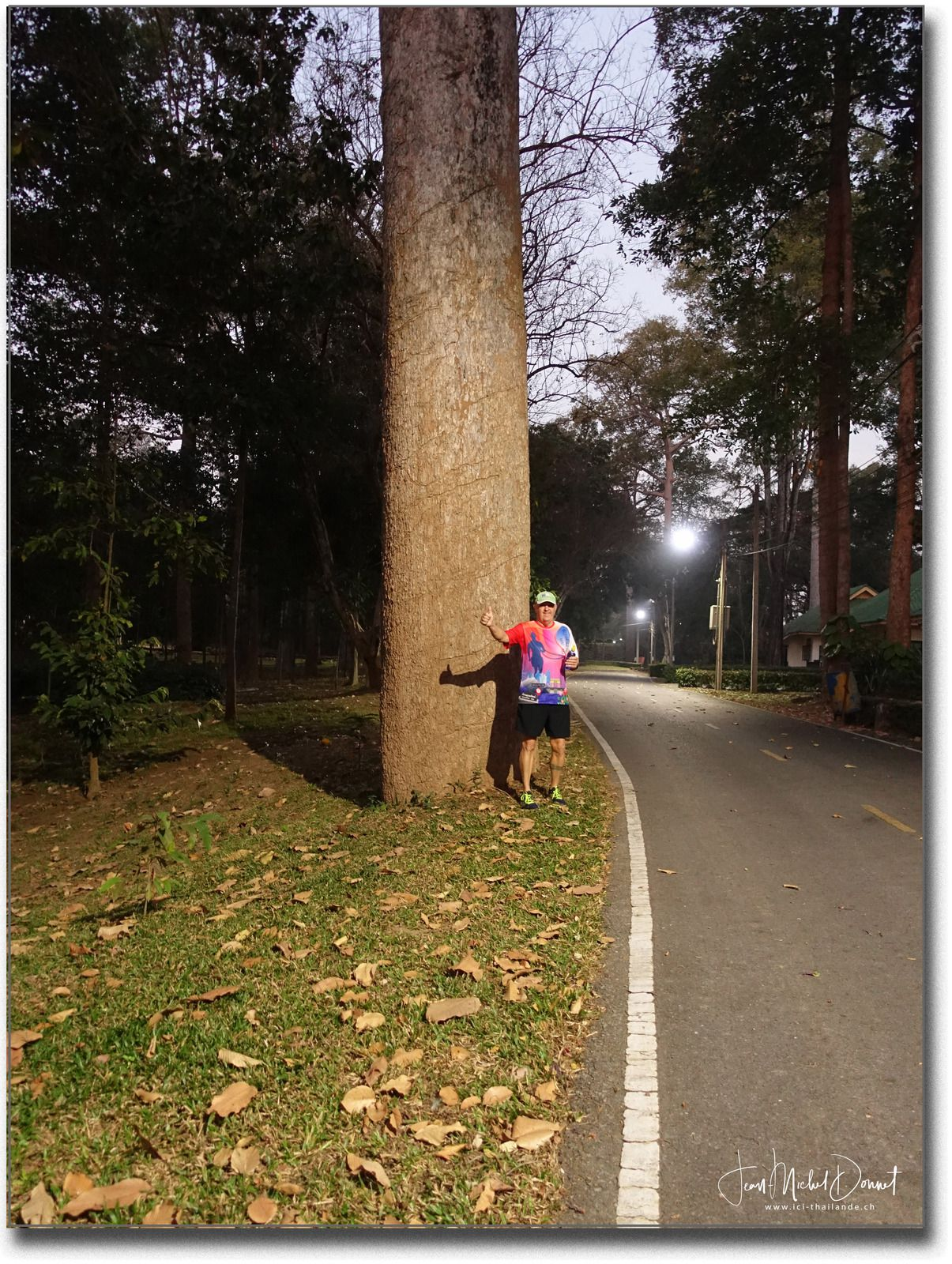 Promenade matinale avec nos amis (Thaïlande)