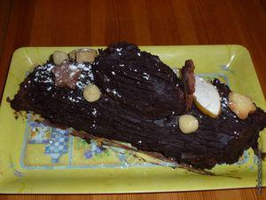 Deux variantes de la bûche au chocolat...