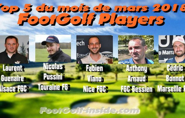 Top 5 FootGolf Players mars 2018