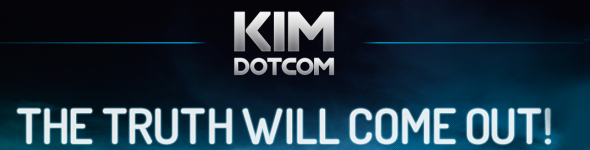Kim DOTCOM sort son site.