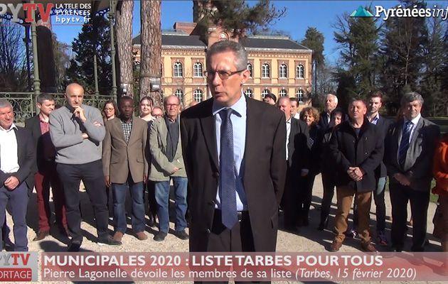Municipales 2020 :: La liste Tarbes pour tous de Pierre Lagonelle (15 fév 20) | La Télé de Tarbes