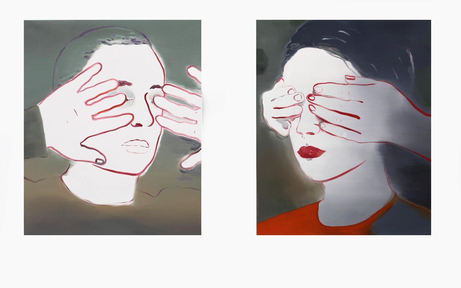 """""""Aveuglé"""" et """"Aveuglée"""", 2020 de Françoise PETROVITCH - Courtesy Galerie Sémiose © Photo Éric Simon"""