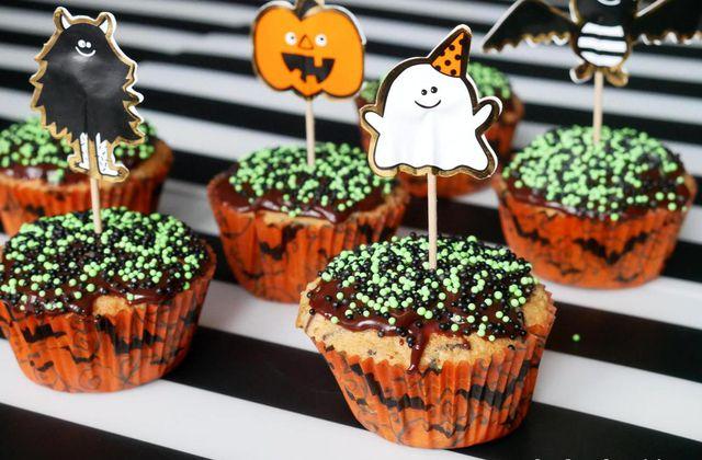 Cupcakes vanille - chocolat / Happy Halloween !!!