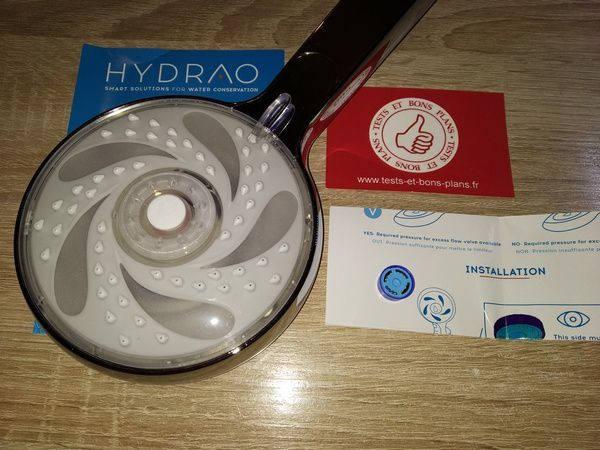 unboxing pommeau de douche connecté Hydrao Shower Aloé @ Tests et Bons Plans