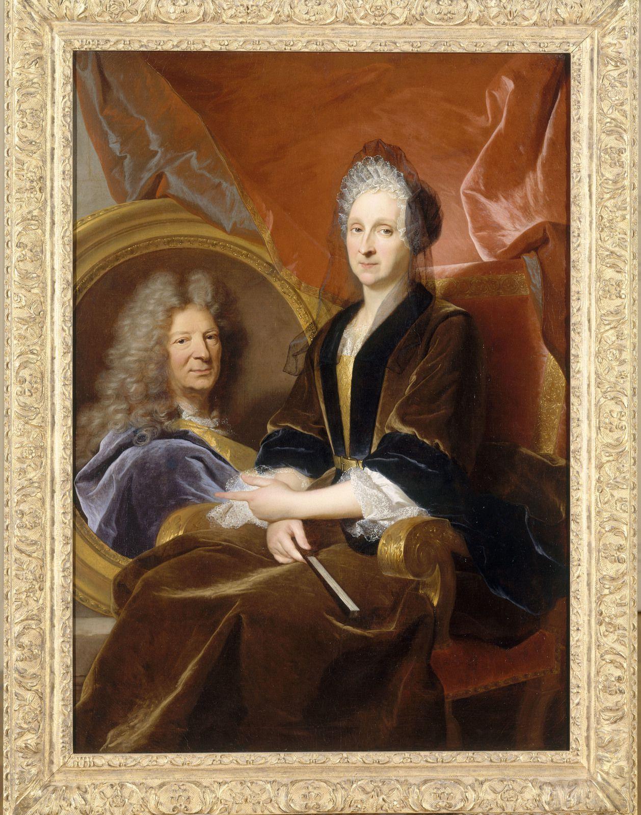 Hyacinthe Rigaud, portrait dit de Madame de Montginot et de son défunt mari, v. 1700. Nantes, muées des Beau-arts © cliché MBA