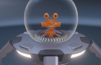 Petit Alien orange