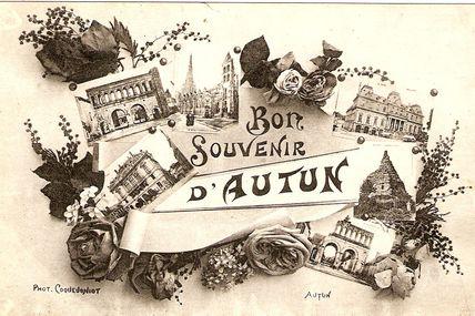 Petite série de cartes d'Autun, multivue.