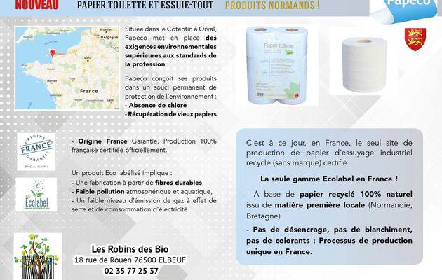 Impact CO2 reduit : papiers toilette et essuie tout NORMANDS