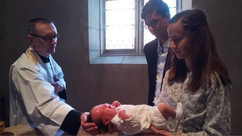 Baptême d'Euphémie Mulsant ce 14 juillet