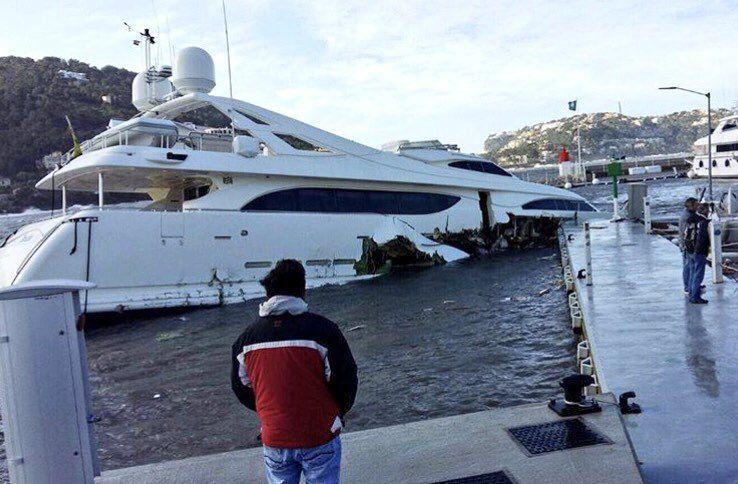 Un mauvais amarrage et un yacht de 3.4 millions d'euros sombre aux Îles Baléares