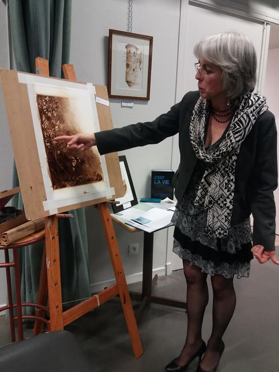 """Vernissage de l'exposition """"Café et aquarelles"""" à Castres"""