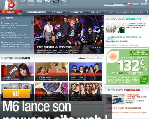 M6 lance son nouveau site web !