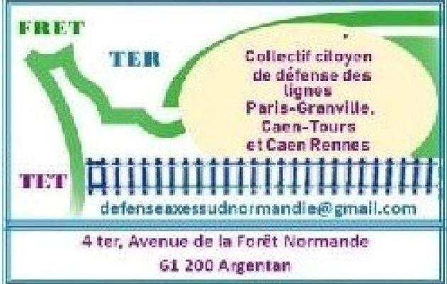 BILAN  DE LA CONCERTATION LE 20 AVRIL AVEC LA SNCF NORMANDIE - PARIS GRANVILLE -CAEN  RENNES - CAEN ALENCON LE MANS TOURS