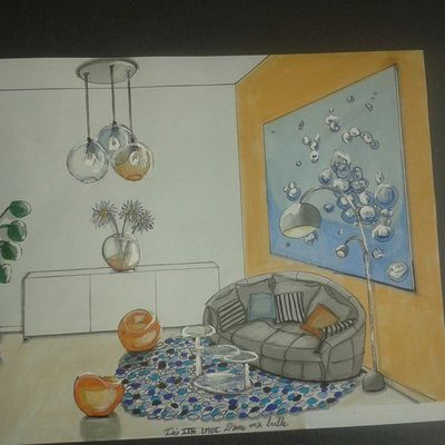 """""""Dans ma bulle"""" le dessin / In my cocoon the draw !"""