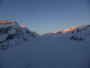 Lötschenlücke 3164 m  au GPS - traversée Blatten - Konkordiahütte