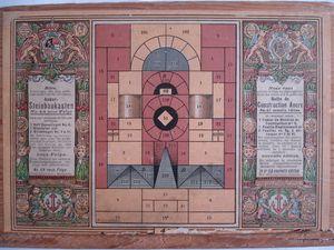 boîtes 4 et 4A..au dos des couvercles le rangement des blocs est indiqué;en complément à ces boîtes, les boîtes à ponts 4 et 4 A :