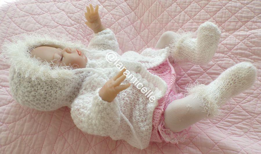 tuto gratuit poupée ET layette prématurée  : manteau à capuche