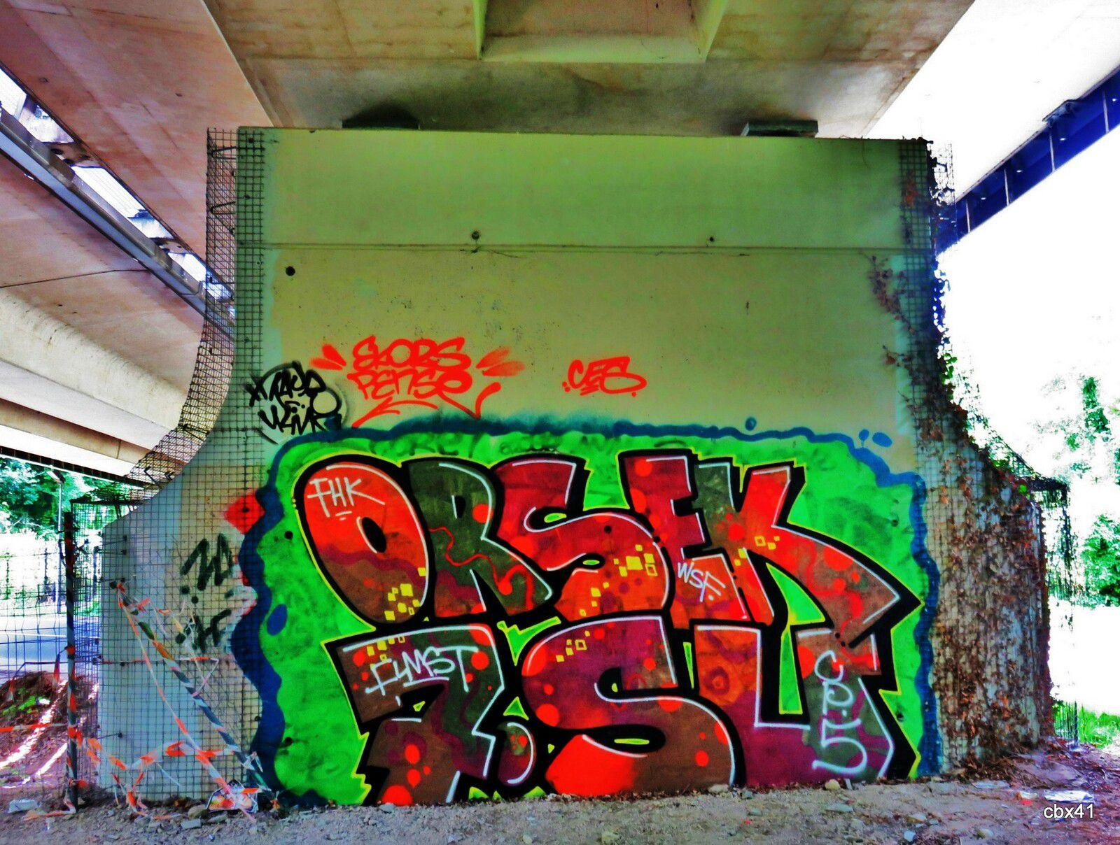 Graffs du Viaduc autoroutier de Montesson, Yvelines (1/5)