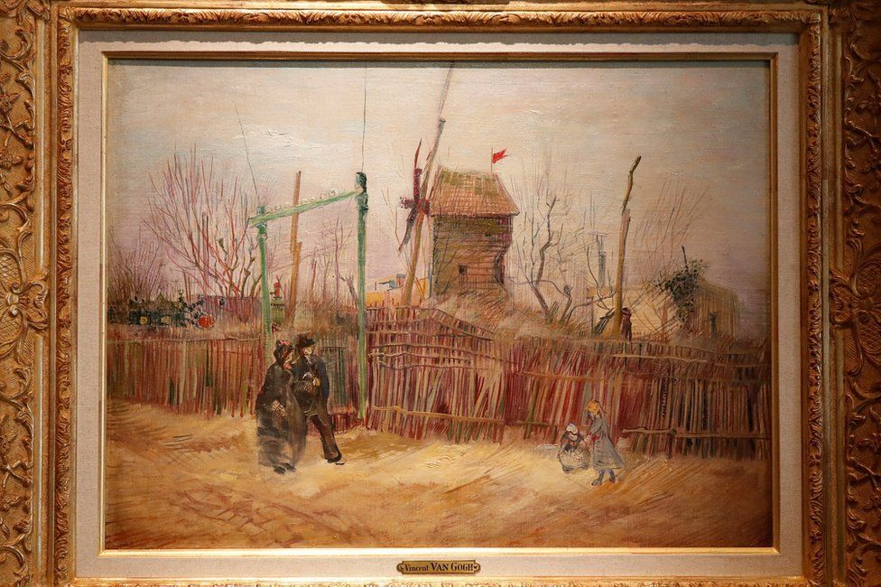 Montmartre was still semi-rural when Van Gogh painted it Reuters