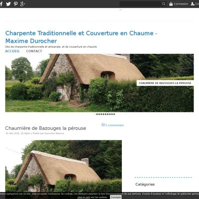 Charpente Traditionnelle et Couverture en Chaume - Maxime Durocher