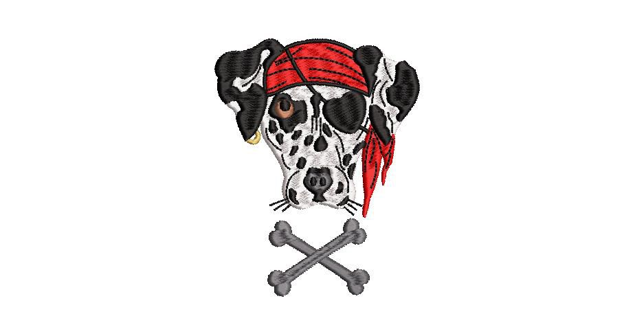 BRODERIE DALMATIEN PIRATE