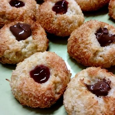 Biscuits coco confiture (ou chocolat)