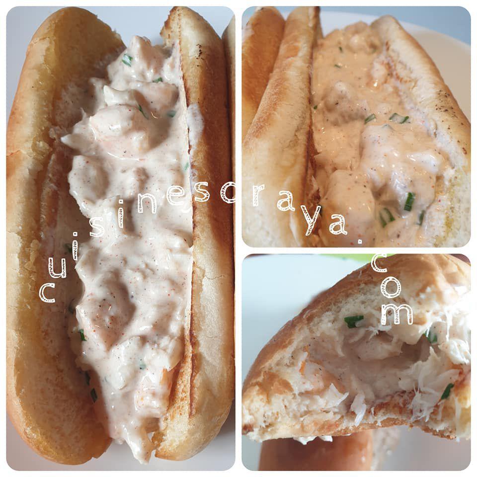 Hot-dog à la crème de poisson