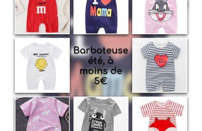 Des barboteuses d'été pour bébé à moins de 5€