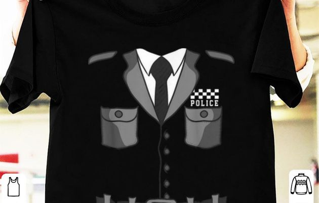 Top British Police Bobby Copper Halloween Costume shirt