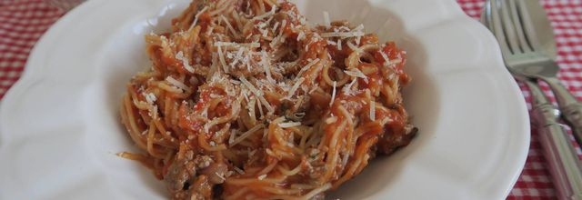 One-pot pasta au bœuf et coulis de tomates