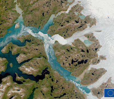 Groenland. Une étendue de glace, grande comme la Floride, a fondu en un jour