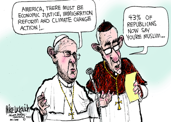 Conservatives are aghast that, after Republican Speaker of the House John Boehner invited Pope Francis to speak to a joint session of Congress,