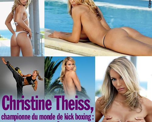Christine Theiss, championne du monde de kick boxing, ses photos très sexy !