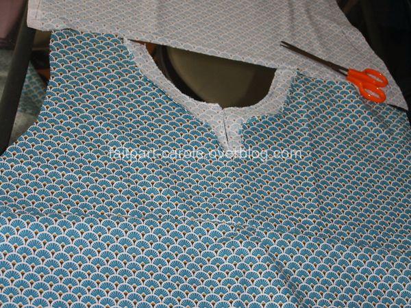 blouse femme tissu art-déco