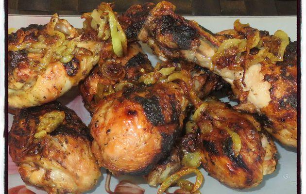 Poulet au curry au barbecue