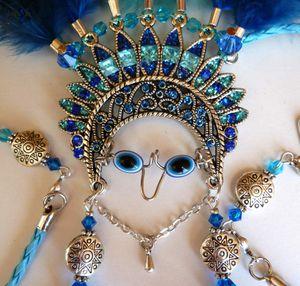 Chalchiutlicue - Collier talisman et sa divinité protectrice aztèque déesse des rivières et des lacs