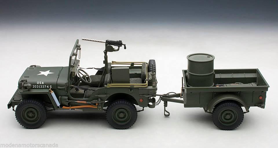 Jeep Willys au 1/18ème (AUTOArt)
