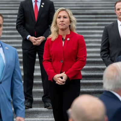 Democrats Look to Cast the Republican Party as the Greene Party