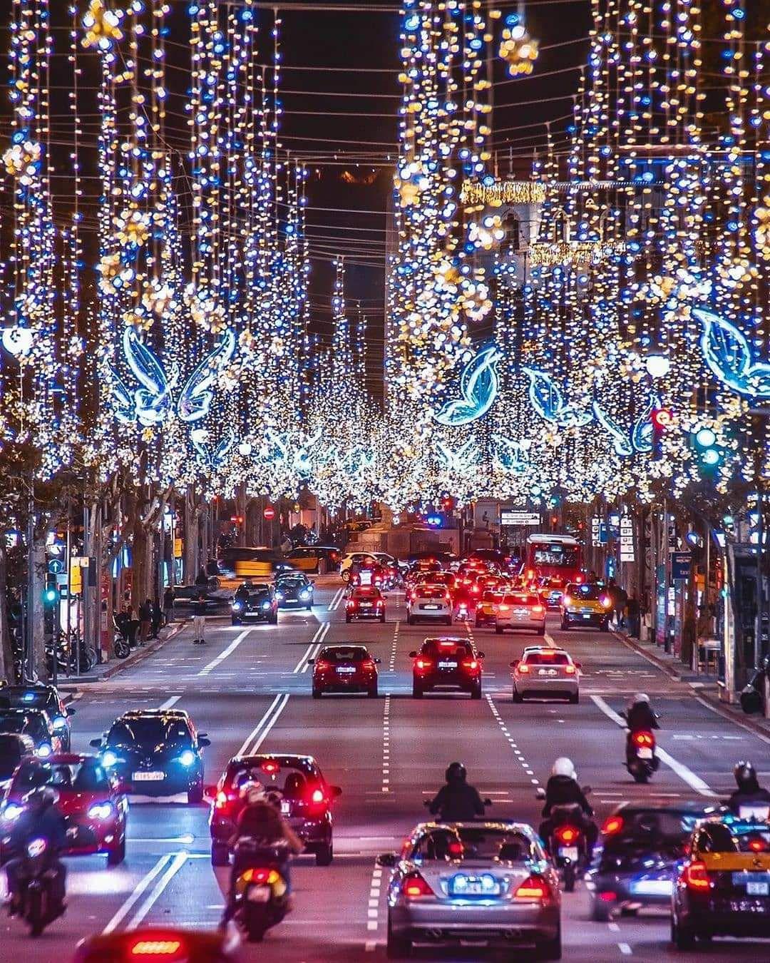 Les illuminations de Barcelone